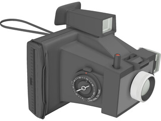 Camera Polaroid Color Pack 3D Model