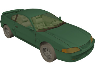 Ford Mustang GT (1994) 3D Model