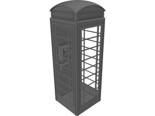 Telephone Booth 3D Model
