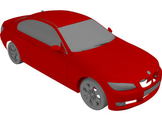 BMW 3-series Coupe (2006) 3D Model