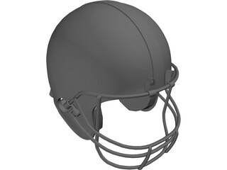 Football Helmet 3D Model