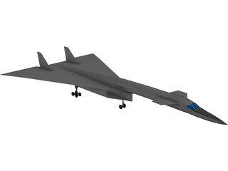 North American XB-70 Valkyrie 3D Model
