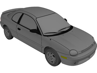 Plymouth Neon Coupe (1997) 3D Model