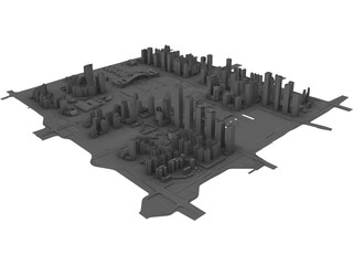 Shenzhen (China) 3D Model