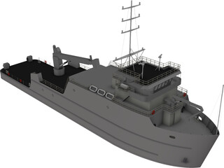YTT Torpedo Recovery Ship 3D Model