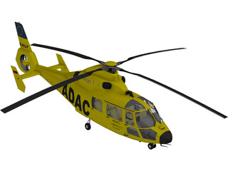 Eurocopter AS-365 Dauphin 3D Model