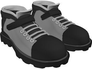 Outdoor Trekking Shoes 3D Model