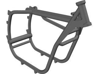 BMW 2V R series frame R80/R100 3D Model