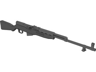 SKS Rifle 3D Model