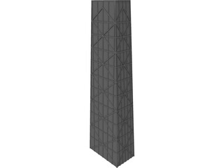 Hancock Tower, Chicago IL 3D Model