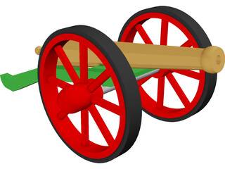 8PDR Cannon 3D Model