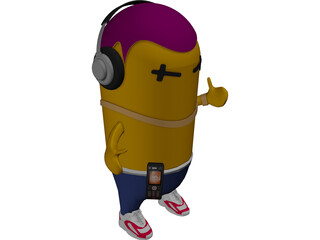 Music Monster 3D Model