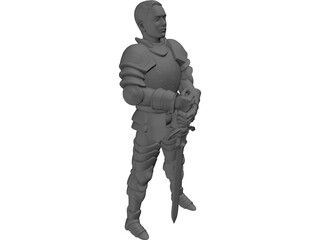 Young Knight 3D Model