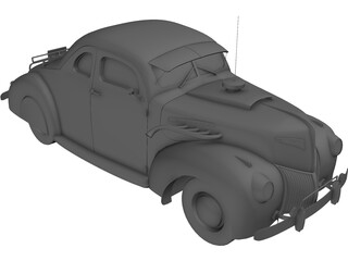 Ford Coupe (1939) 3D Model