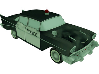 Chevrolet Bel Air Police (1952) 3D Model