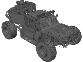 Military Armored Buggy 3D Model