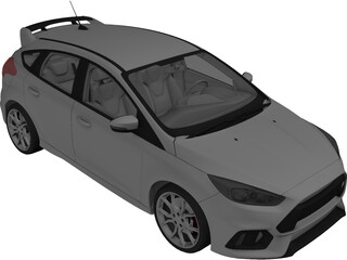 Ford Focus (2016) 3D Model