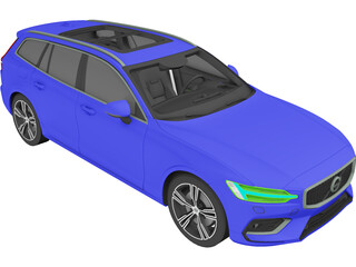 Volvo V60 Wagon (2017) 3D Model