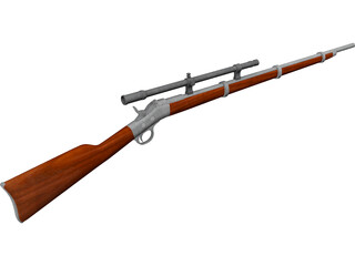 Remington Rolling Block Rifle 3D Model