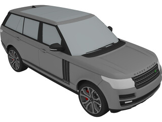 Range Rover SVA Dynamic LWB (2017) 3D Model