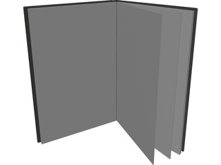 Open Thin Notebook 3D Model
