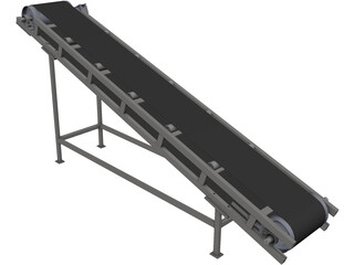 Belt Conveyor 3D Model