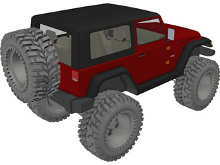 Jeep Wrangler TJ (2006) 3D Model