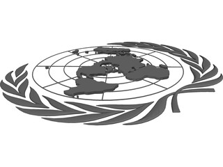 United Nations Seal 3D Model