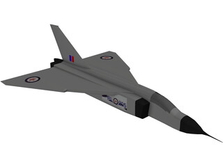 Avroe Arrow Jet Fighter 3D Model