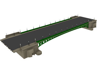 European Bridge 3D Model