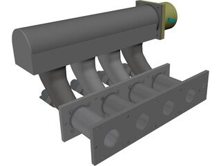 Honda CRX-Civic 84-87 Performance Intake Manifold 3D Model