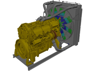Caterpillar C27 Engine 3D Model