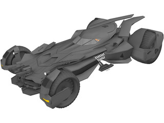 Batman Car 3D Model