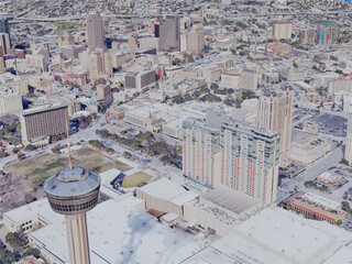 San Antonio City, TX, USA (2019) 3D Model