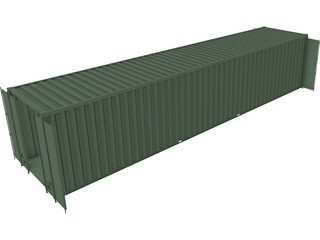 40 inch ISO Shipping Container 3D Model