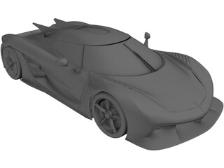 Koenigsegg Jesko Absolut (2020) 3D Model