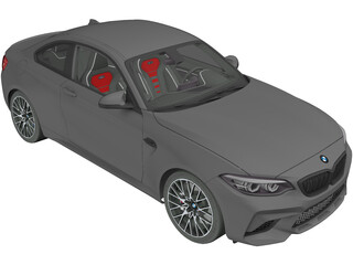 BMW M2 Competition (2018) 3D Model