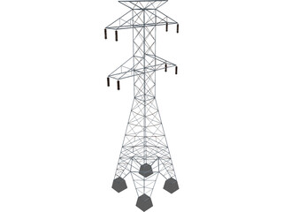 High Tension Tower 3D Model