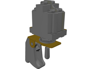 Cuttler&Hammer Toggle Switch with Guard 3D Model