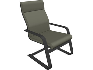 Laminated Wood Style Chair 3D Model