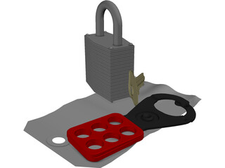 Lock Out Tag Out Kit 3D Model