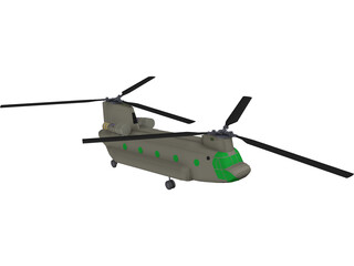 Boeing CH-47F Chinook 3D Model
