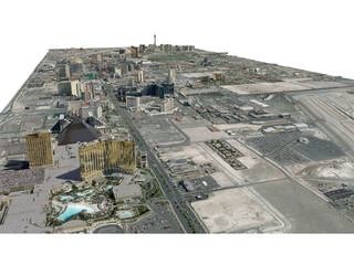 Las Vegas City 3D Model