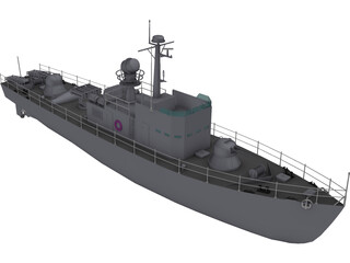 Military Fast Attack Boat 3D Model