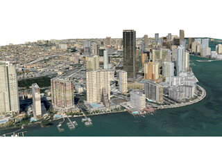 Miami City 3D Model - 3D CAD Browser