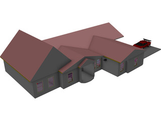 Country Home 3D Model