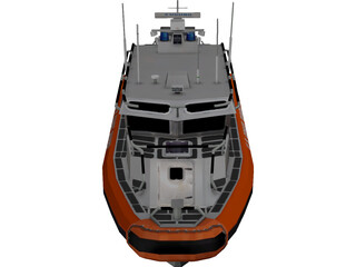 United States Coast Guard Homeland Security Boat 3D Model