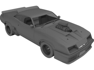 Ford Falcon XB Coupe [Charged] 3D Model