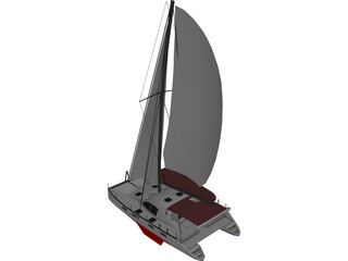 Moorings 4600 Catamaran Sailboat 3D Model
