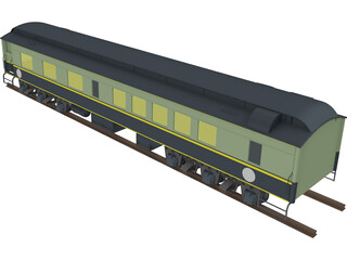 Canadian Dining Car 3D Model